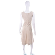 I Magnin 3 Pc Linen Skirt Sleeveless Top & SS Jacket Spring Summer Suit Outfit