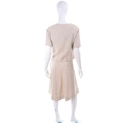 I Magnin 3 Pc Linen Skirt Sleeveless Top & SS Jacket Summer Suit Outfit Mid Cent