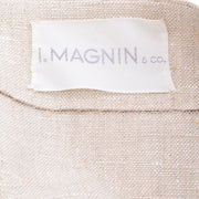 I Magnin 3 Pc Linen Skirt Sleeveless Top & SS Jacket Summer Suit Outfit High End