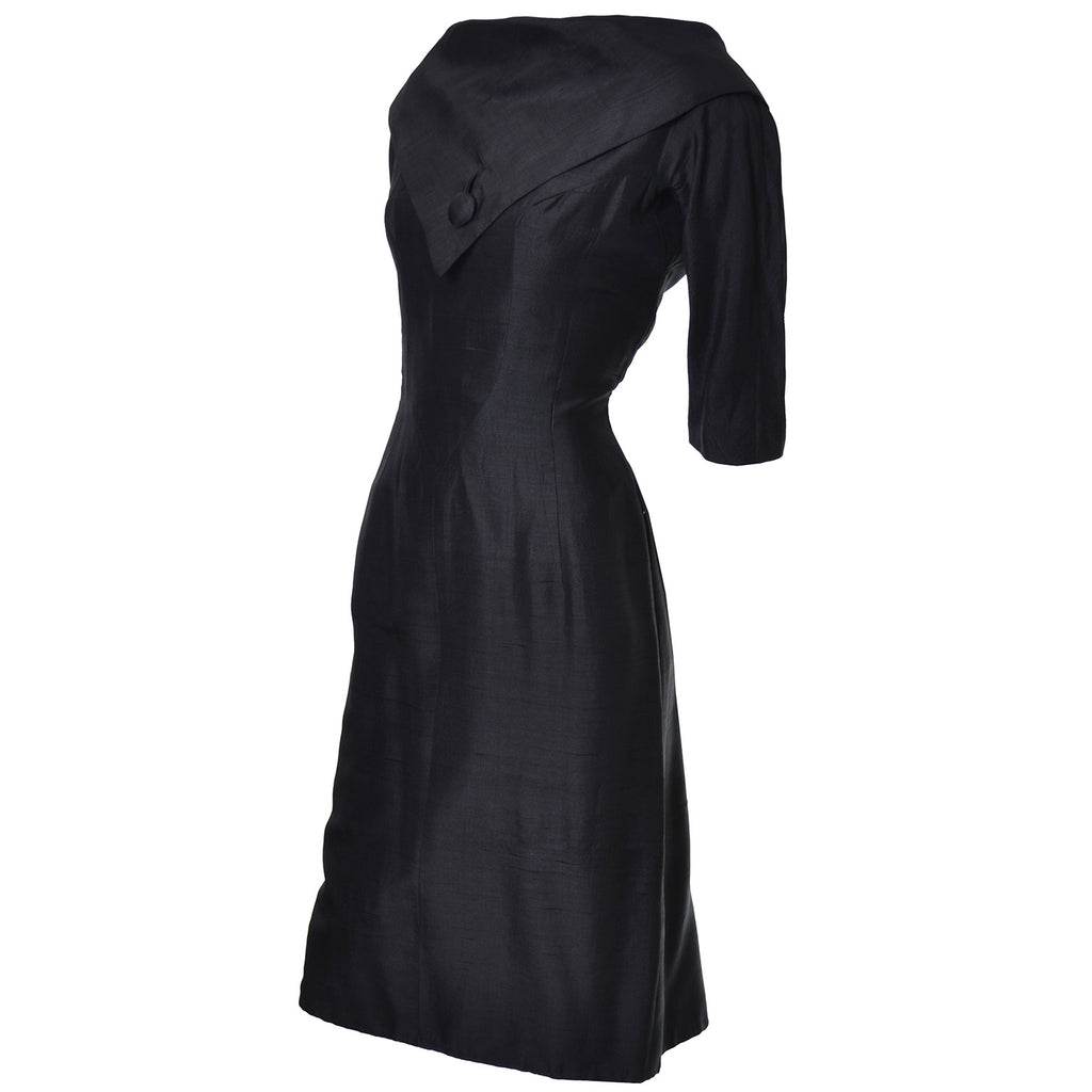 Suzy Perette Vintage Dress Black Silk 50s