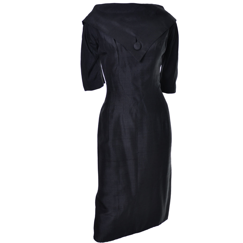 1950s Suzy Perette Vintage Dress Black Silk