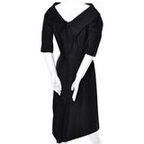 1950s Suzy Perette Vintage Wiggle Dress Black Silk
