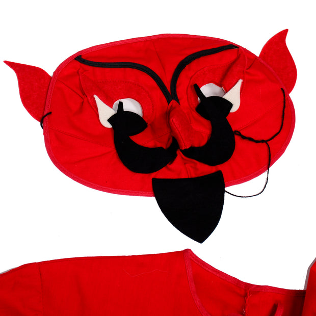 1940s vintage Red Devil Childs Halloween Costume with mask