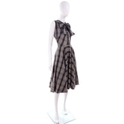 1950s Plaid Claire McCardell Vintage Dress Full Skirt