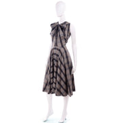 1950s Plaid Claire McCardell Vintage Dress Bow Neck