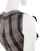 1950s Plaid Claire McCardell Vintage Dress Button Front