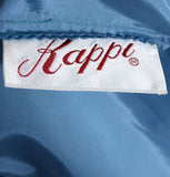 Kappi vintage dress 1950's blue silk chiffon