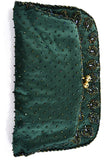Beaded Green 1960s Hong Kong Vintage Evening Bag Clutch Purse