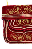 Meyers red velvet and gold embroidered 1960's vintage handbag