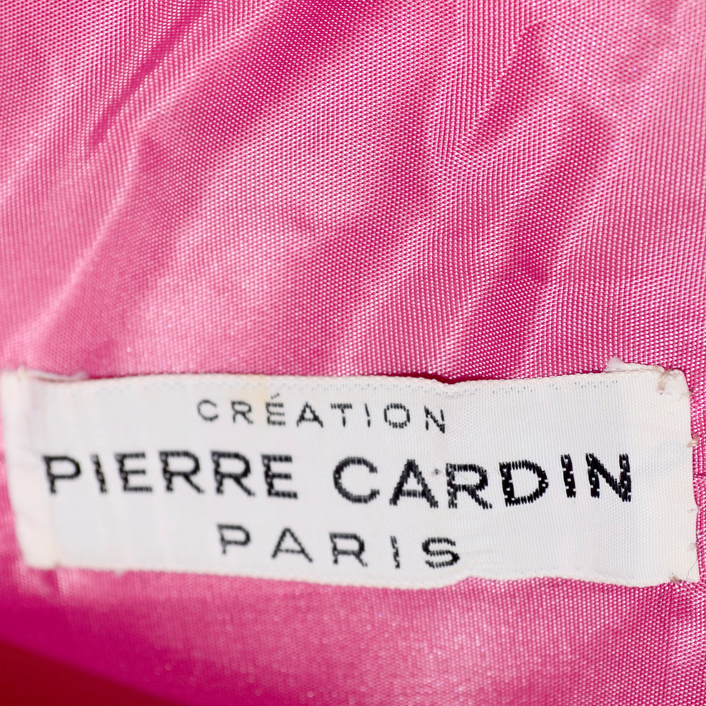 Creation Pierre Cardin Paris 1960's label on vintage dress