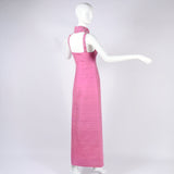 Collectable Pierre Cardin Paris Pink Cage Dress with High Collar