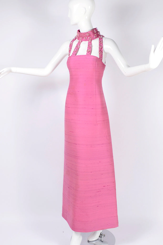 1960's Pink Pierre Cardin Long Cage Dress