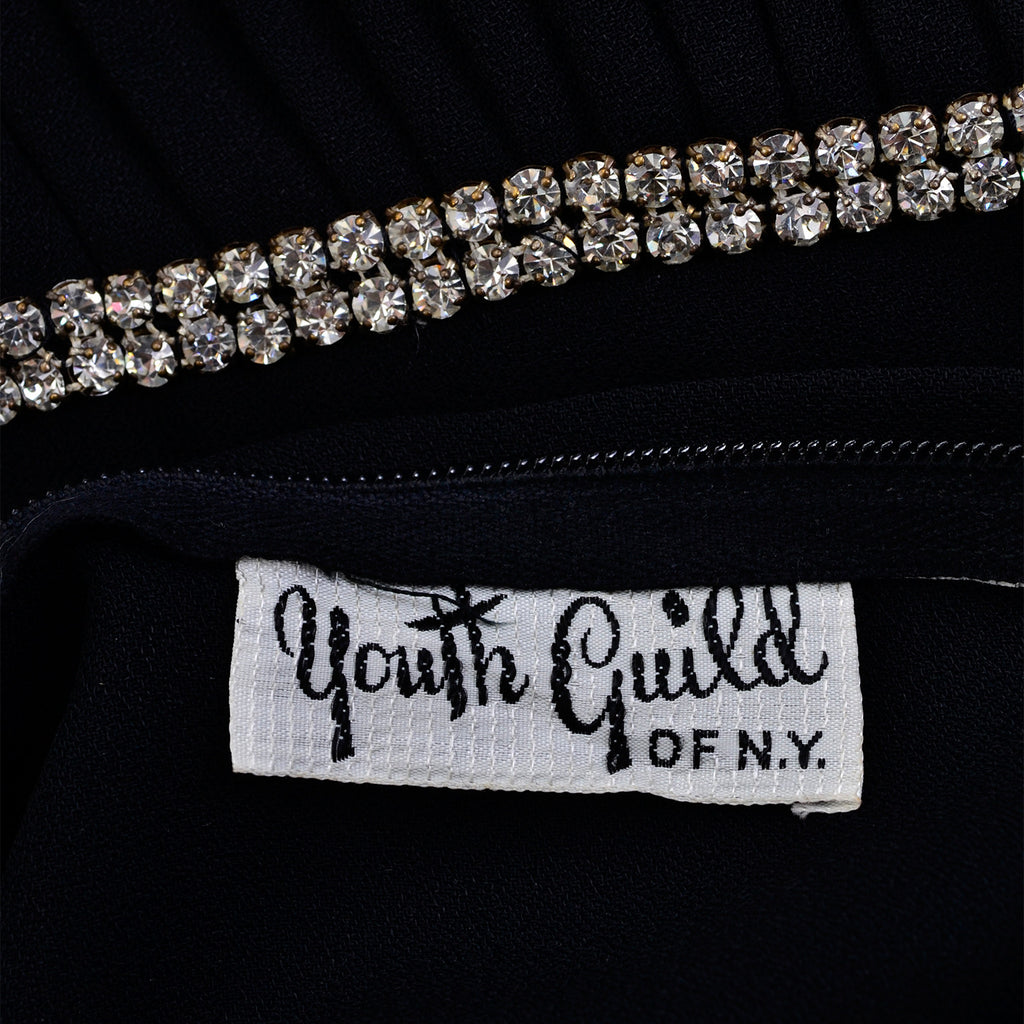 Youth Guild of NY 1960's Black Dress Label