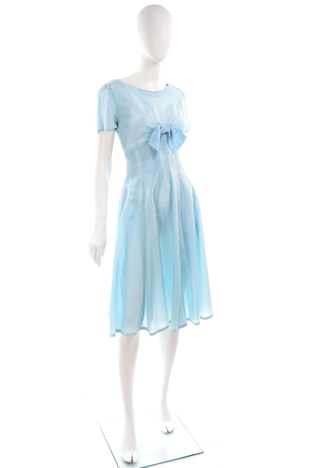 Vintage 1960s Party Dress with Bow on Bodice