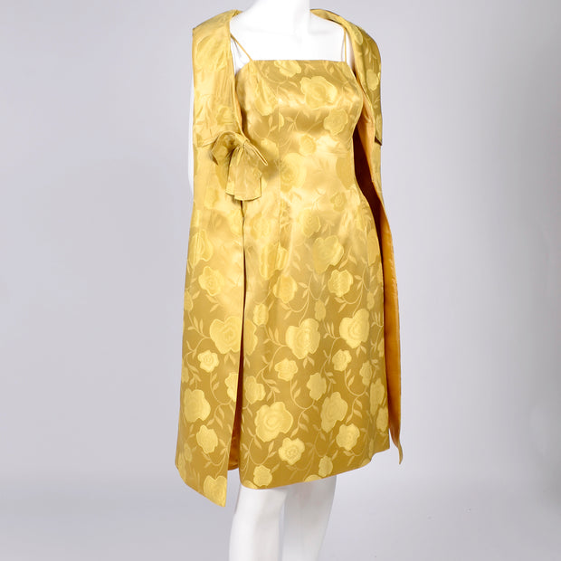1960s vintage dress 2 pieces Gold