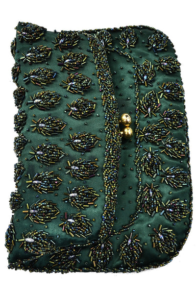 Beaded 1960s Hong Kong Vintage Evening Bag Clutch Purse
