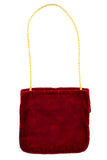 60's Meyers red velvet and gold Moroccan vintage handbag
