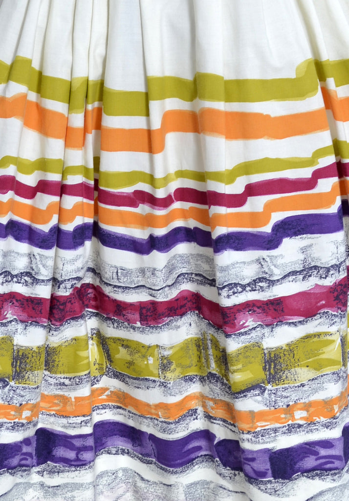 vintage 1950's colorful stripes skirt