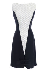 Black and White Mod Sequin Vintage Dress