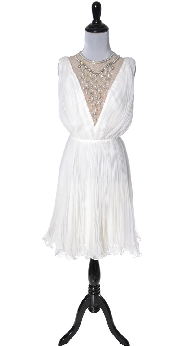 Jack Bryan 1960's beaded chiffon vintage dress SOLD - Dressing Vintage