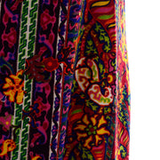 Paisley floral 1970s Vintage Bendels Colorful Maxi Dress
