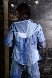 Vintage patchwork denim ensembl