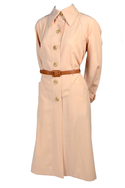 1970s Pale Pink Trench Coat