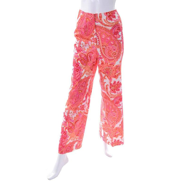 High waisted pink vintage pants size 4/6