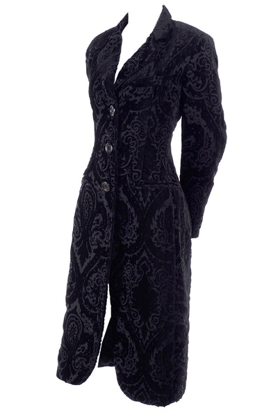 Cut velvet evening coat Dolce & Gabbana