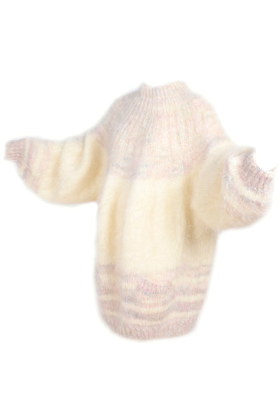 Oversized cream mohair vintage sweater dress