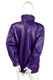 Jewel Tone Leather Jacket