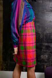 1980's vintage plaid skirt