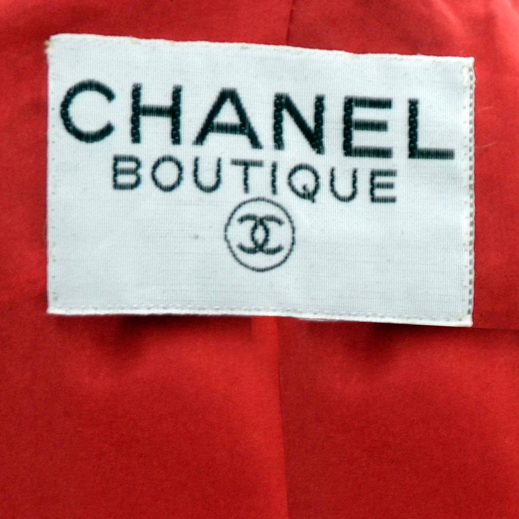 1985 Chanel Boutique Vintage Skirt Suit Label
