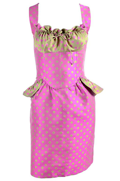 Pink and Gold Christian Lacroix Vintage Dress