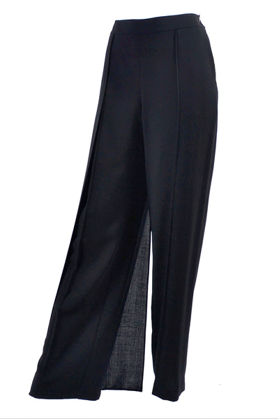 Chanel 1999 black pants with fly away panel