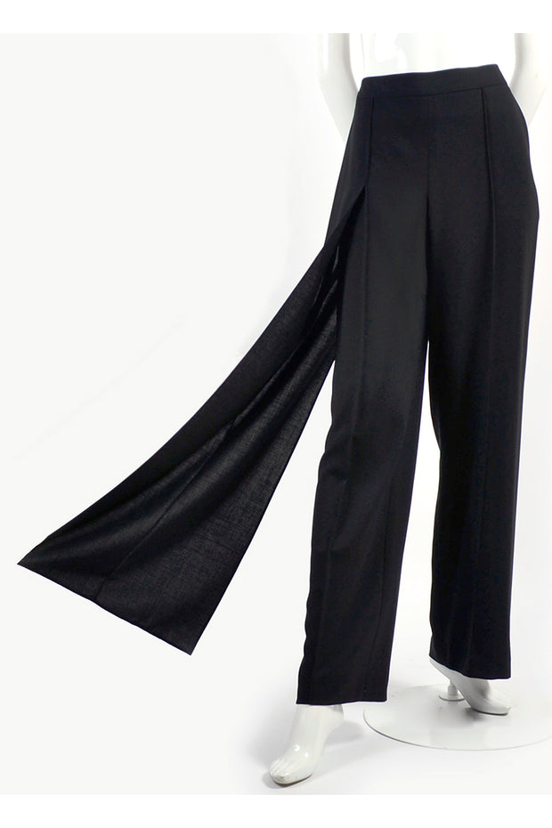 Chanel wide leg trousers with panel