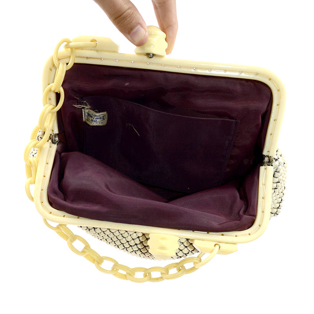 1940s Whiting & Davis Mesh Handbag w/ Celluloid Chain Strap