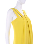 2008 Resort Collection Oscar de la Renta Chartreuse Evening Gown