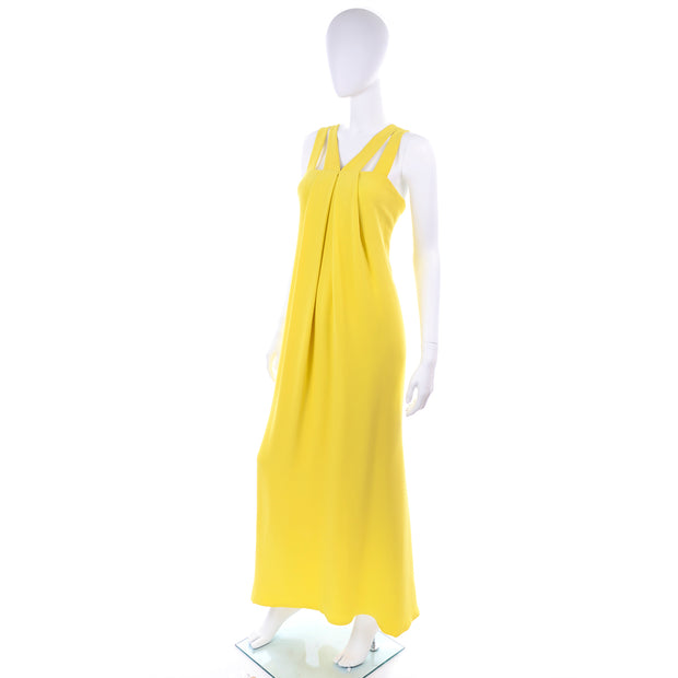 Vintage Oscar de la Renta Grecian Long Dress