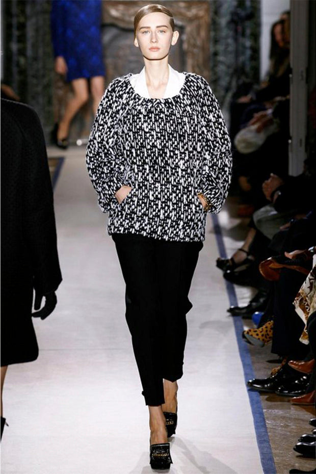 2011 YSL chunky knit sweater runway