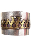 Mixed metal vintage cuff bracelet