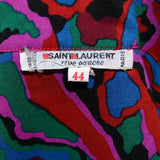 1970's YSL label for an abstract print vintage skirt