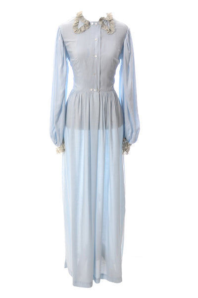 Vintage Iris Lingerie Co. Sylvia Pedlar peignoir nightgown and robe - Dressing Vintage