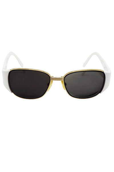 1990s Yves Saint Laurent YSL White Sunglasses