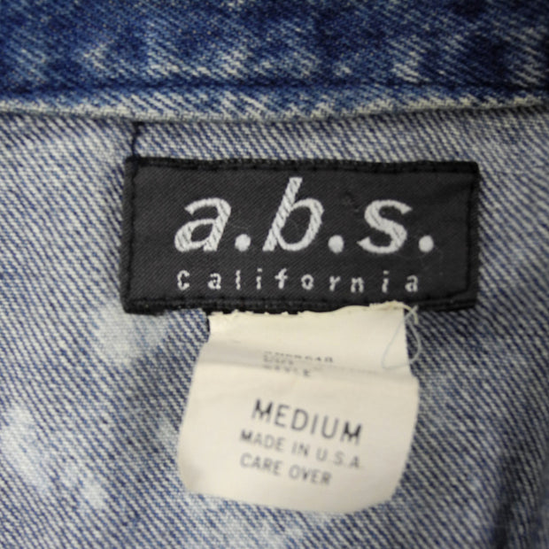 A.B.S. California 1980's Acid Wash Denim Jacket - Dressing Vintage