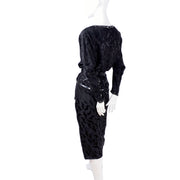 1980's beaded silk vintage AJ Bari vintage dress