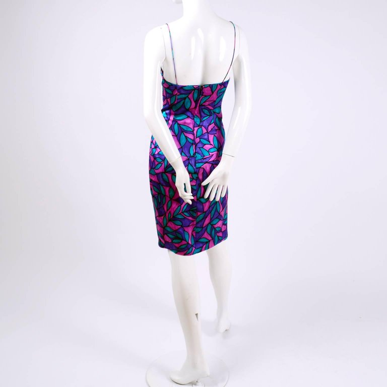 Sleeveless vintage AJ bari summer dress