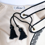 Acme made in France Ivory White skirt and vest with matching tassel belt