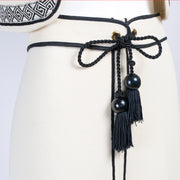 1970's belt with black bead and tassel