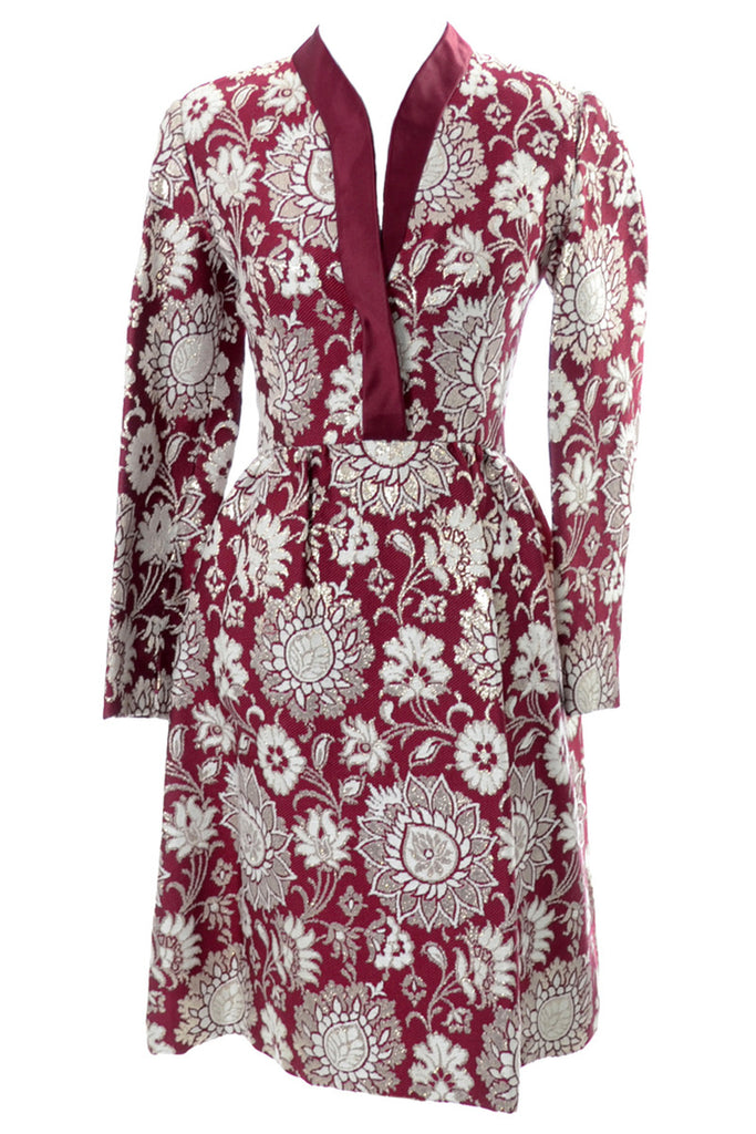 Adele Simpson vintage burgundy dress